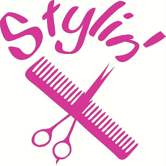 Clip Art Hair Stylist Clipart hair stylist scissors clipart kid cosmetology vinyl decal sticker laptop auto