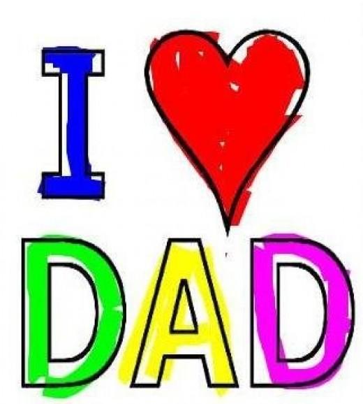 I Love Dad Clipart - Clipart Kid