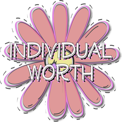 Individual Worth Flower Red Lds Yw Young Women Value 402x400 Png