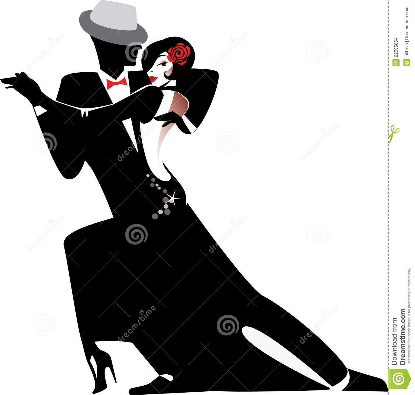 More similar stock images of silhouette of couple dancing tango