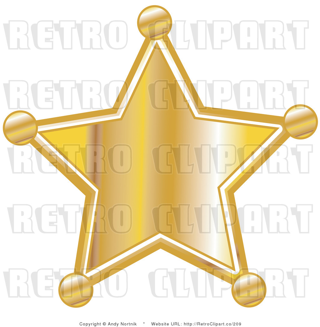 Retro Royalty Free Sheriff Badge Vector Clipart By Andy Nortnik    209