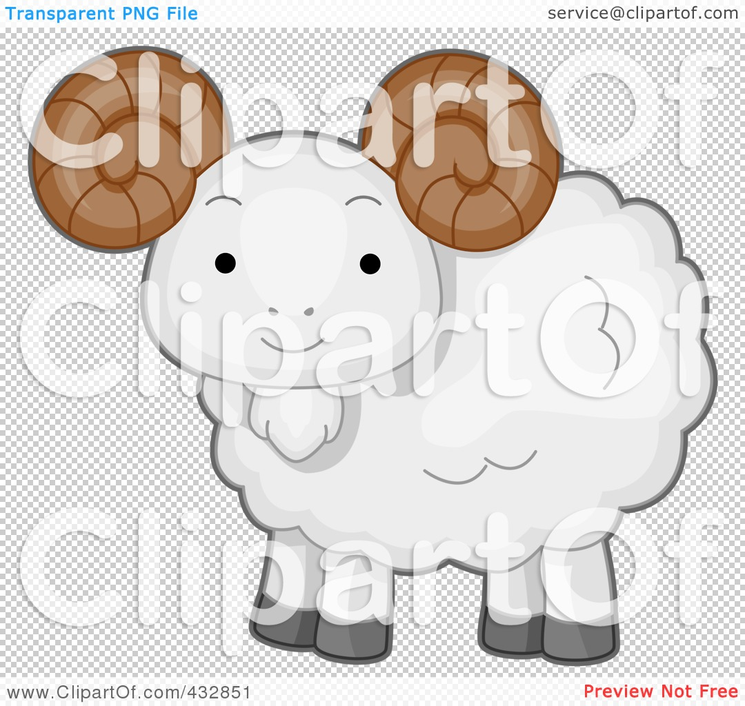 Royalty Free  Rf  Clipart Illustration Of A Cute Baby Ram By Bnp