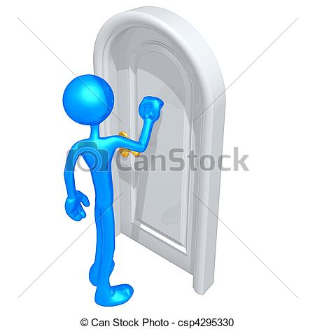 Stock Illustration   Knocking On A Door   Stock Illustration Royalty