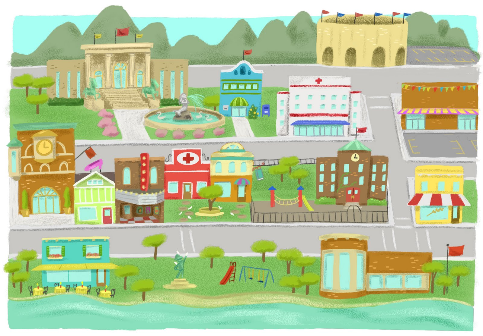 Simple Street Map Clipart Clipart Suggest