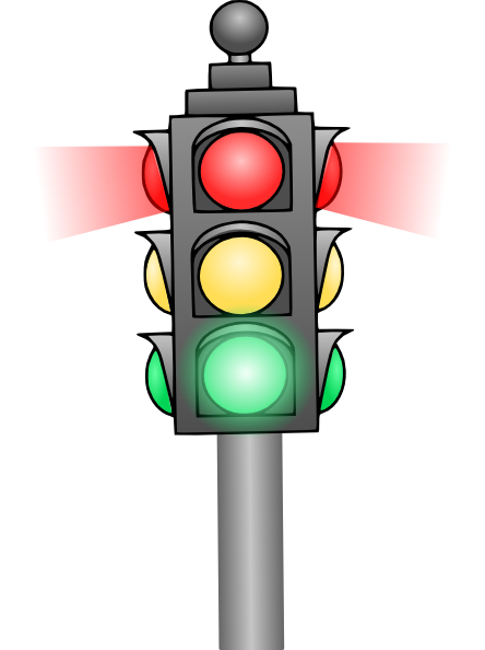 Red Stop Light Clipart - Clipart Suggest