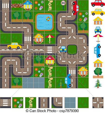 Vector Clipart Of Map Scheme Of Streets   Map Layout Of The Streets Of
