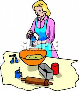 Woman Baking   Royalty Free Clipart Picture