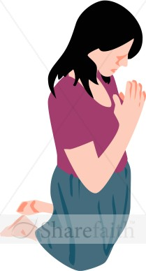 Woman S Humble Prayer   Prayer Clipart