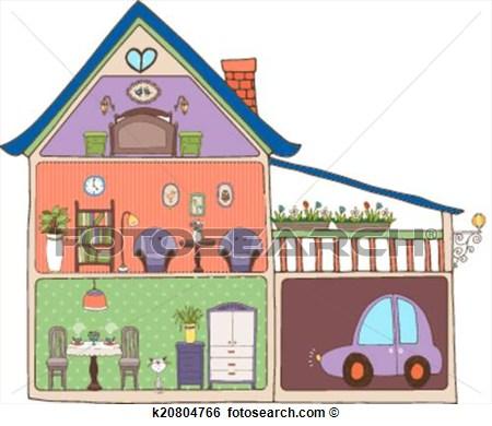 Clip Art Home Interior Design And Decor Fotosearch Search Clipart