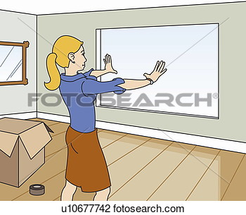 Clip Art Of Young Woman Designing New Home Interior U10677742   Search