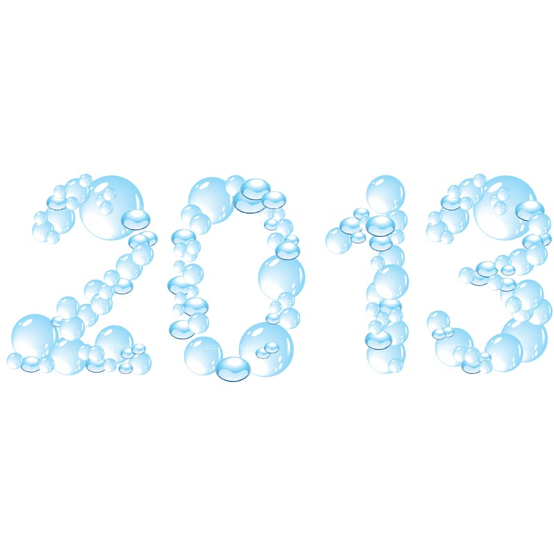 Clipart Year 2013 In Bubbles   Royalty Free Vector Design