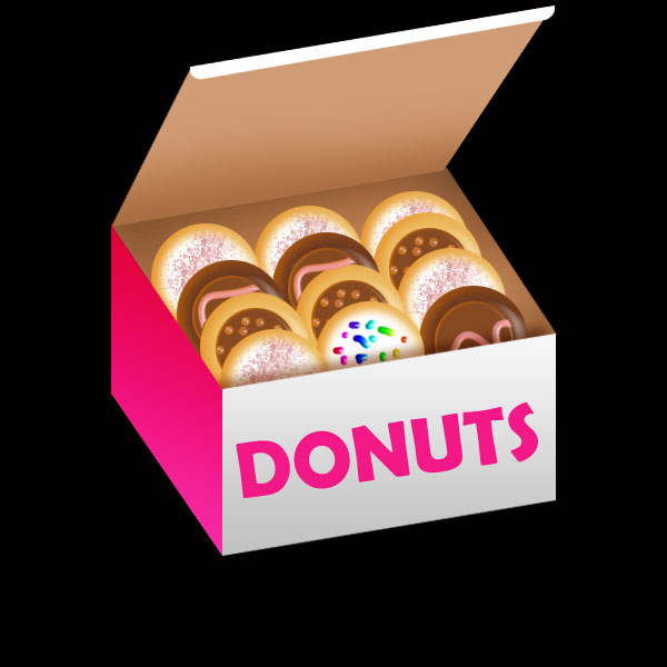 Create A Donuts Box With Donuts    Psdartist