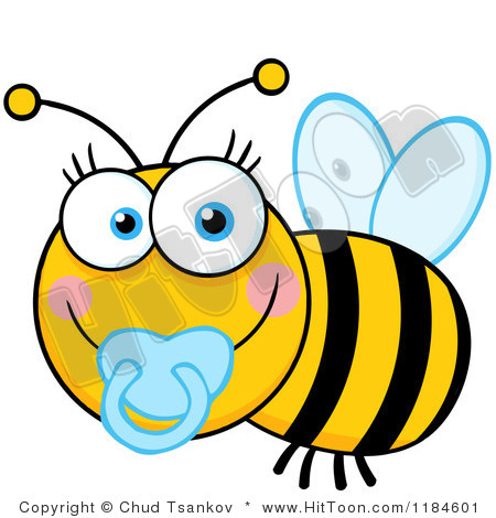 Cute Baby Bee Clipart 1184601 Cartoon Of A Cute Baby Bee With A