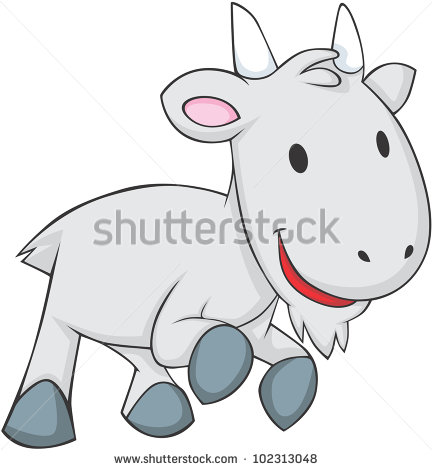 Cute Baby Goat   Stock Vector