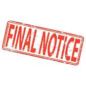 Final Notice Stamp   Clipart Graphic