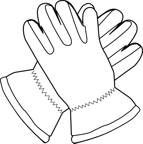 Gloves Outline Clip Art At Clker Com   Vector Clip Art Online Royalty