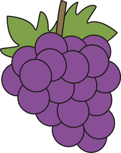 Grapes Clip Art Image   Bunch Of Purple Grapes