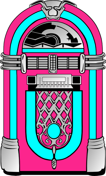pink and blue jukebox 2 clip art at clker com vector clip Sock Hop Dancers Clip Art Sock Hop Dancers Clip Art