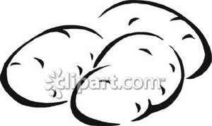 Potato Clip Art Black And White   Clipart Panda   Free Clipart Images