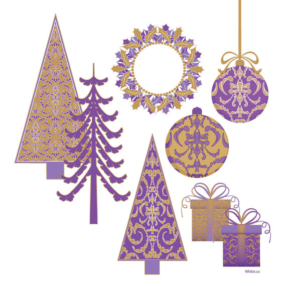 Sale Christmas Clip Art Christmas Tree Digital Scrapbooking Clipart