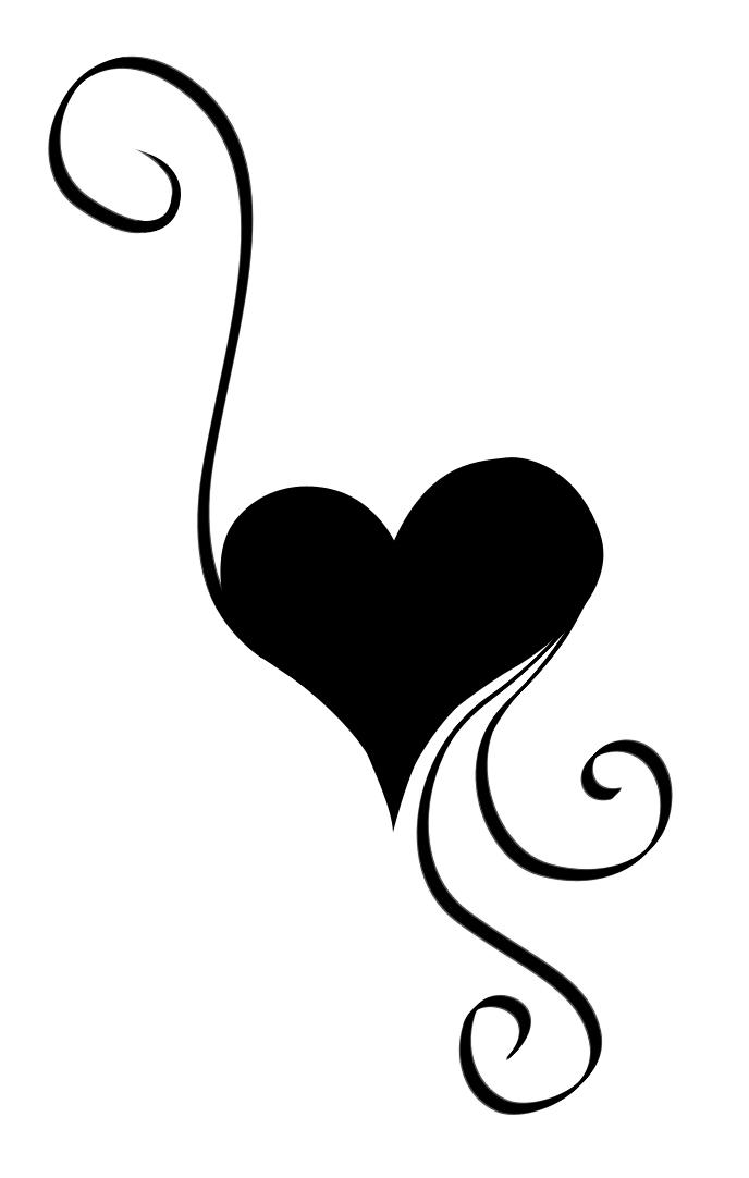 heart swirls clipart clipart suggest. Black Bedroom Furniture Sets. Home Design Ideas