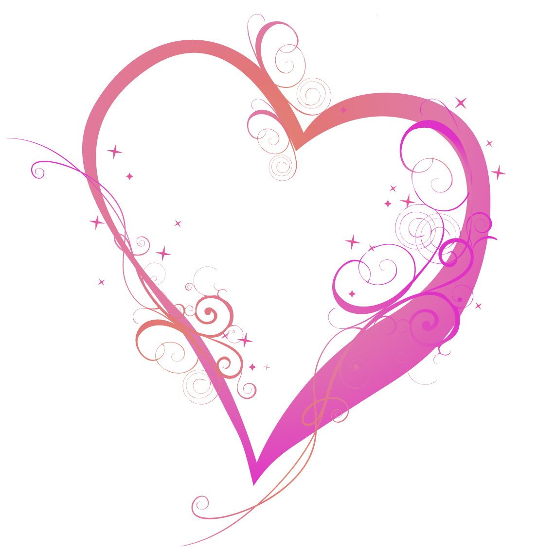 Swirl Heart Tattoo   Clipart Best