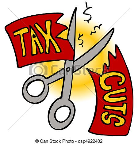 Tax Cuts   Tax Cuts Clip Art