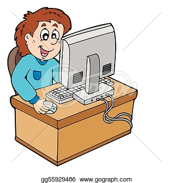 boy looking at computer clipart   clipart suggest