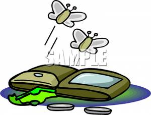Wallet Clipart Two Moths Flying From An Almost Empty Wallet 110130