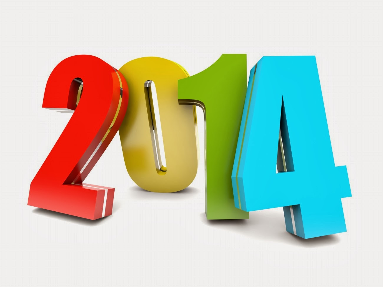 2014 3d Colorful Numbers Happy 2014 New Year Jpg