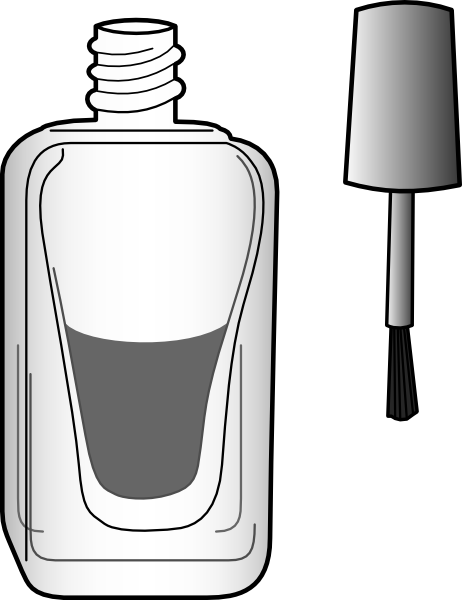 Black And White Nail Polish Bottle Clip Art At Clker Com   Vector Clip