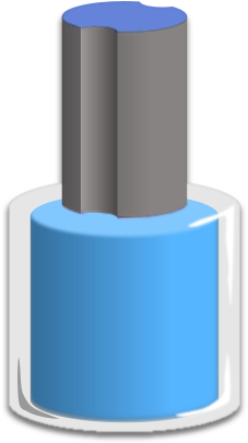 Bottle Of Red Nail Polish   Clipart