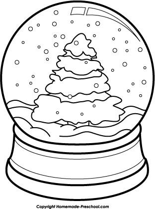 Christmas Snow Globe Colouring Pages  Page 2