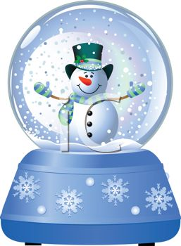 Christmas Snow Globes Clip Art