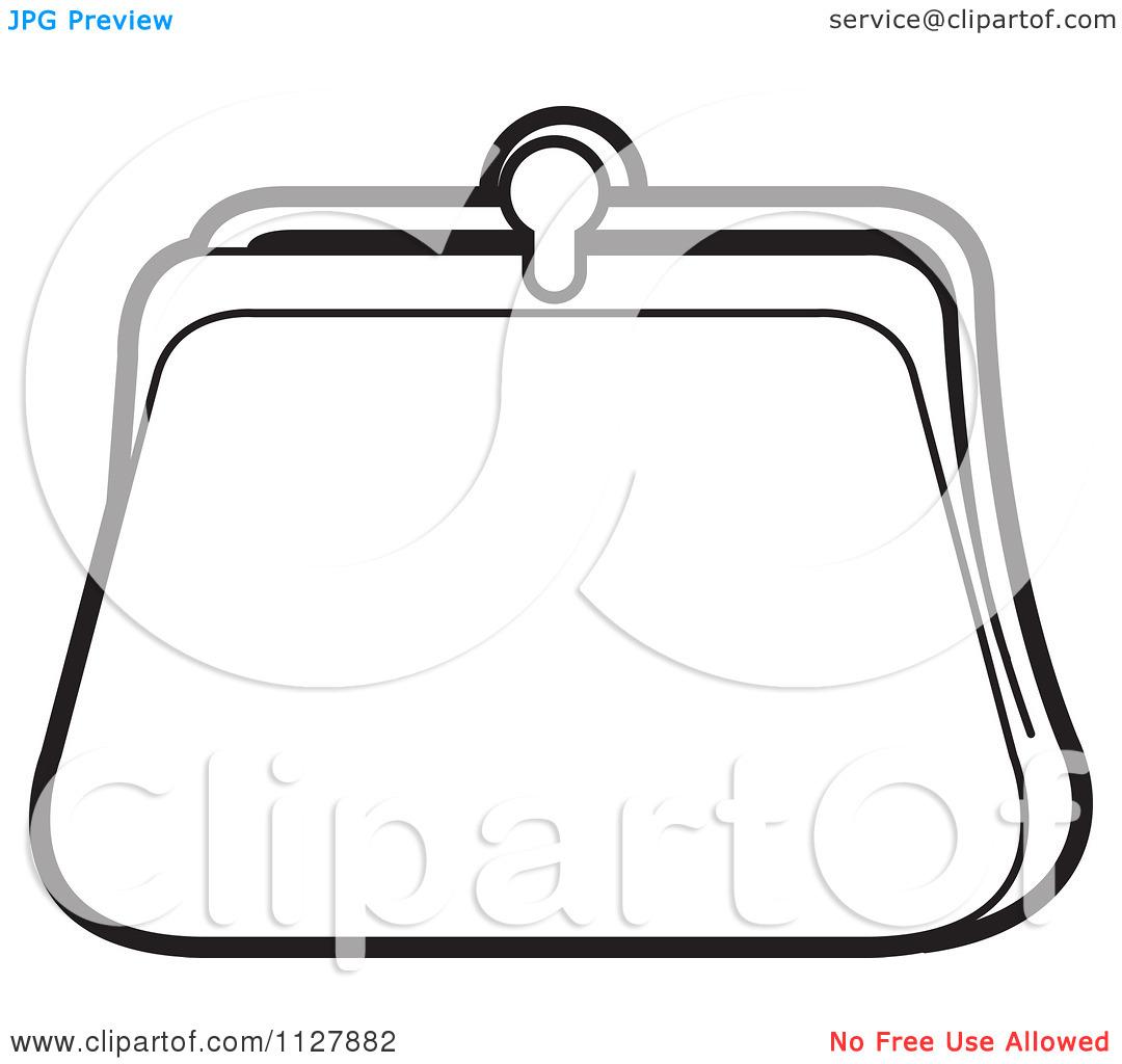 Empty Purse Clipart - Clipart Kid Purse Clipart Black And White