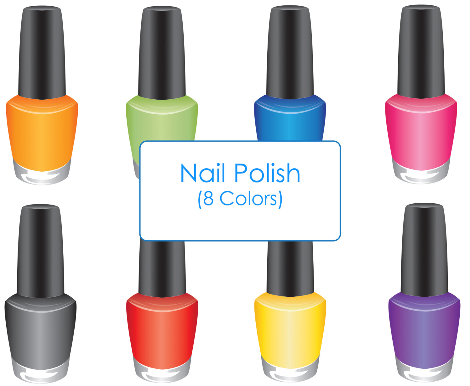 Clip Art Nail Polish Clip Art nail polish clipart kid digital download discoveries for cosmetic from easypeach