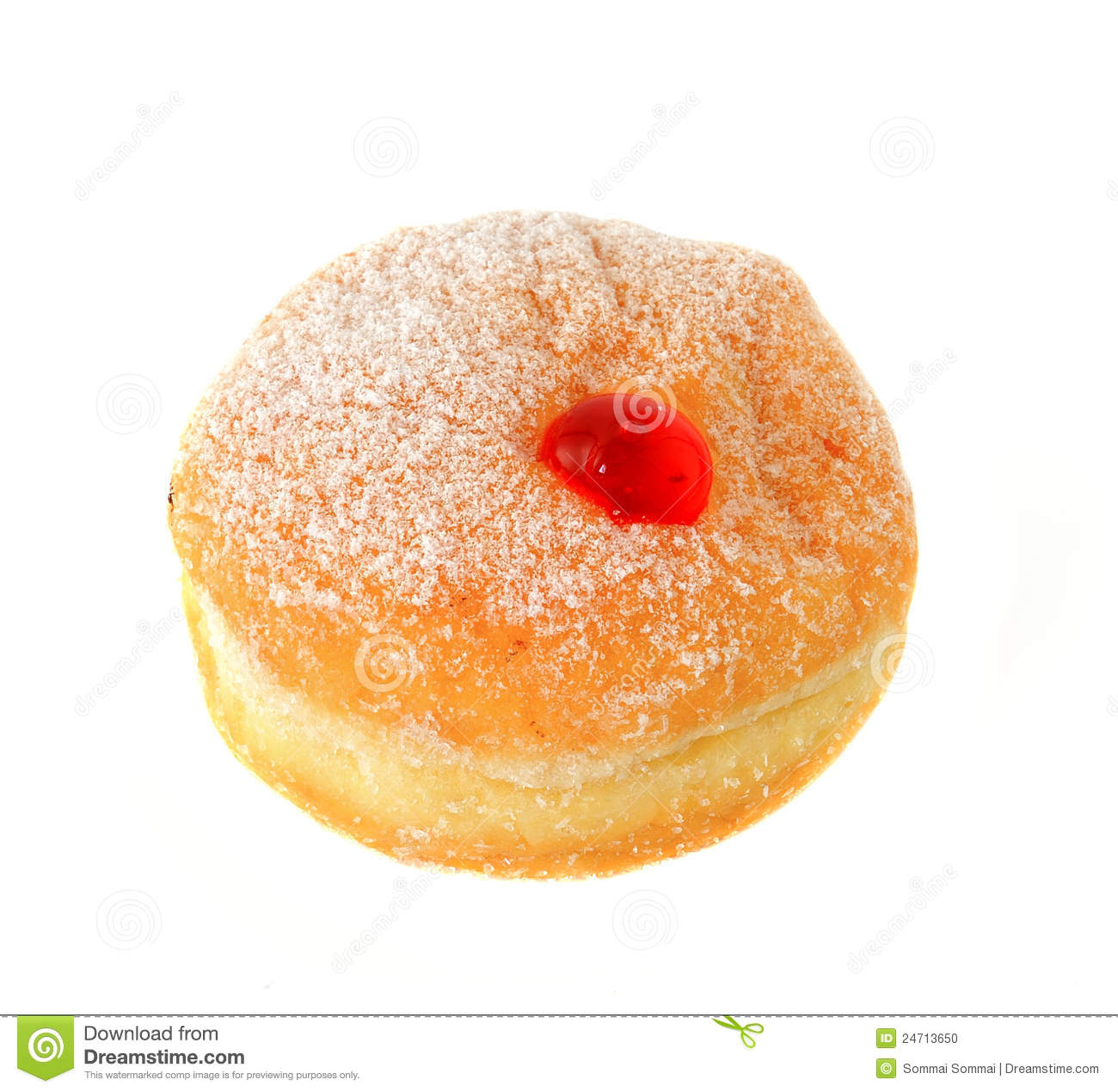 Fresh Raspberry Filled Donut Stock Photo   Image  24713650