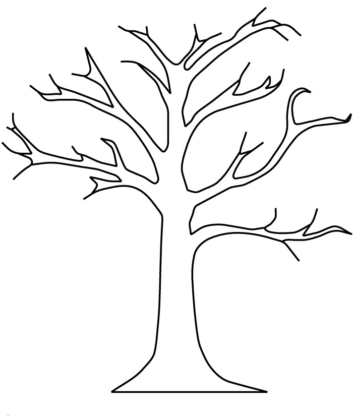 Pictures Tree Without Leaves Coloring Pages   Tree Coloring Pages
