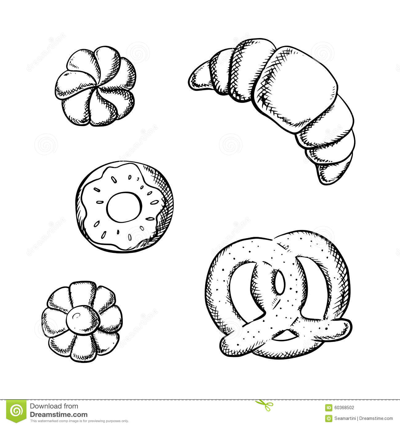 Pretzel Clipart And Illustration 354 Clip Art Vector Eps Picture
