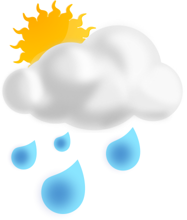 Rain Showers    Weather Rain Water Partly Sunny W Rain Showers Png