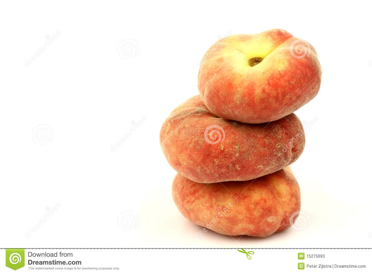 Stack Of Fresh Colorful Flat Peaches Stock Photos   Image  15275693