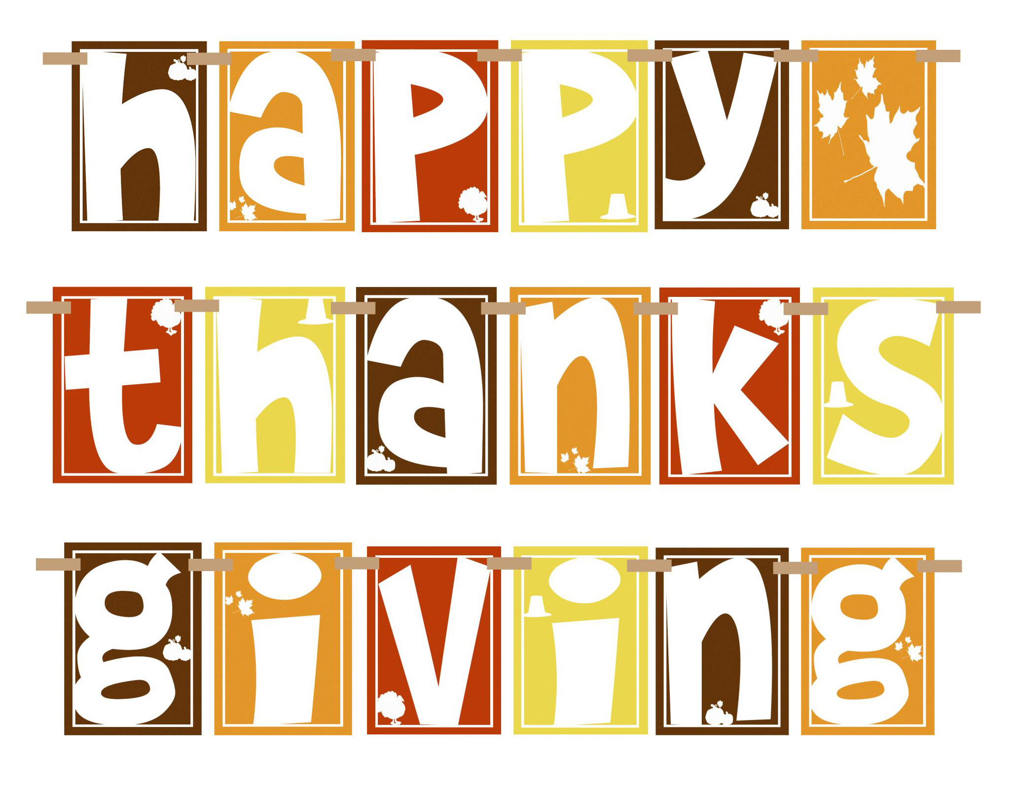 35094 Happy Thanksgiving Clipart