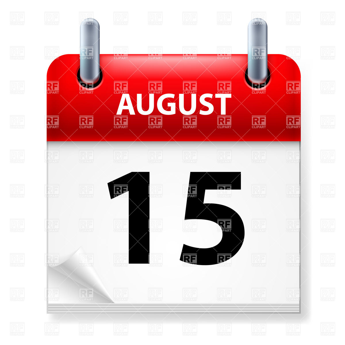 Calendar Icon August 15 7252 Calendars Layouts Download Royalty