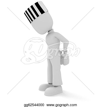 Clipart   3d Man Handcuffed  Stock Illustration Gg62544000