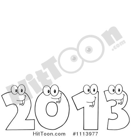 Description From Clipart Yellow Happy 2013 Numbers Royalty Free Vector