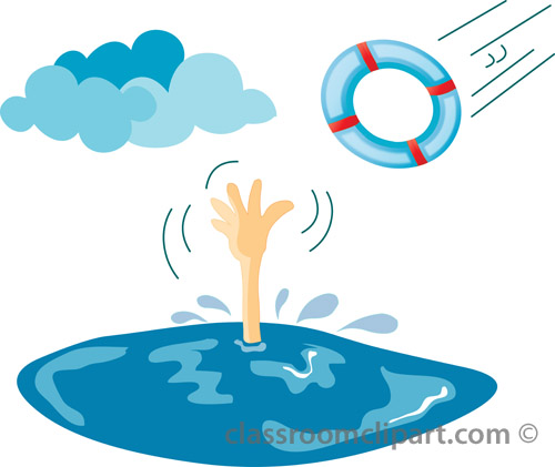 Drowning Clipart - Clipart Kid
