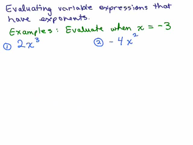 Evaluate Math And Evaluating Expressions