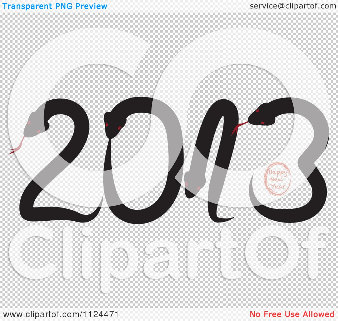 Happy New Year 2013 Clipart Black And White Royalty Free Clipart