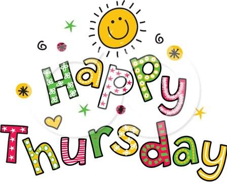 Happy Thursday Clipart Graphic