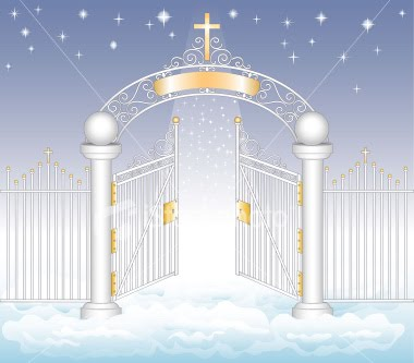 Heaven Gates Nice Picture Of Heaven Gates With Jesus Cross